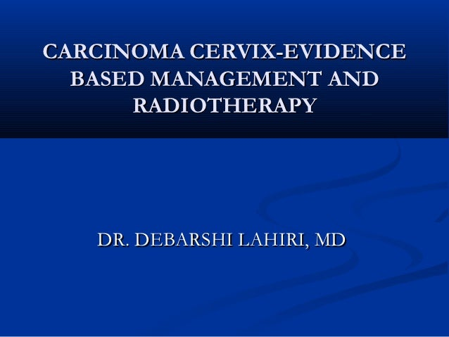 Radiotherapy in carcinoma cervix