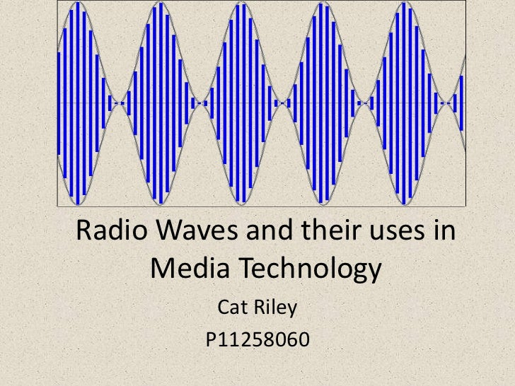 Radio waves used in media technology