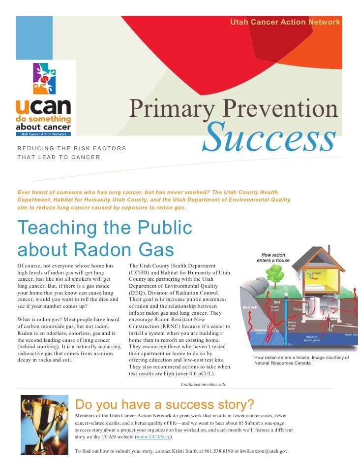 Utah Cancer Action Network                                                  Primary PreventionREDUCING THE RISK FACTORSTHA...