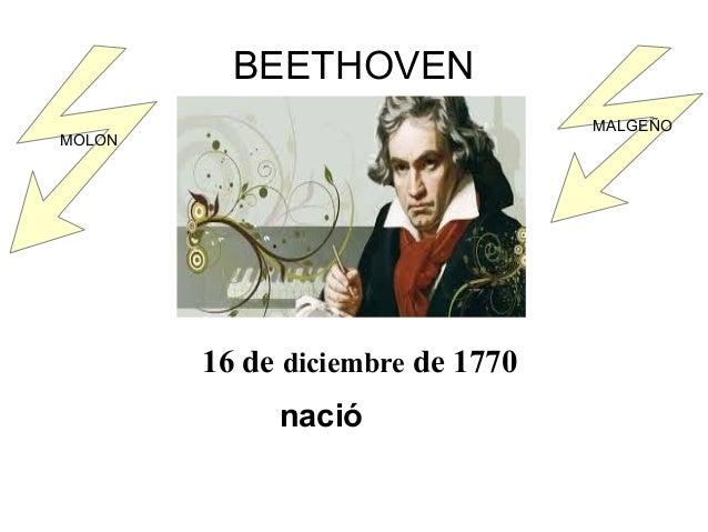 BEETHOVEN 16 de diciembre de 1770 nació MALGEÑO MOLON
