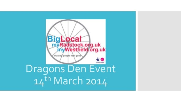 Dragons Den Event 14th March 2014