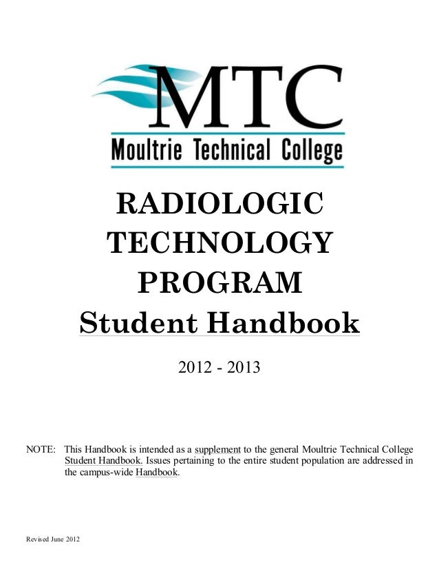 RADIOLOGIC                  TECHNOLOGY                   PROGRAM                Student Handbook                          ...