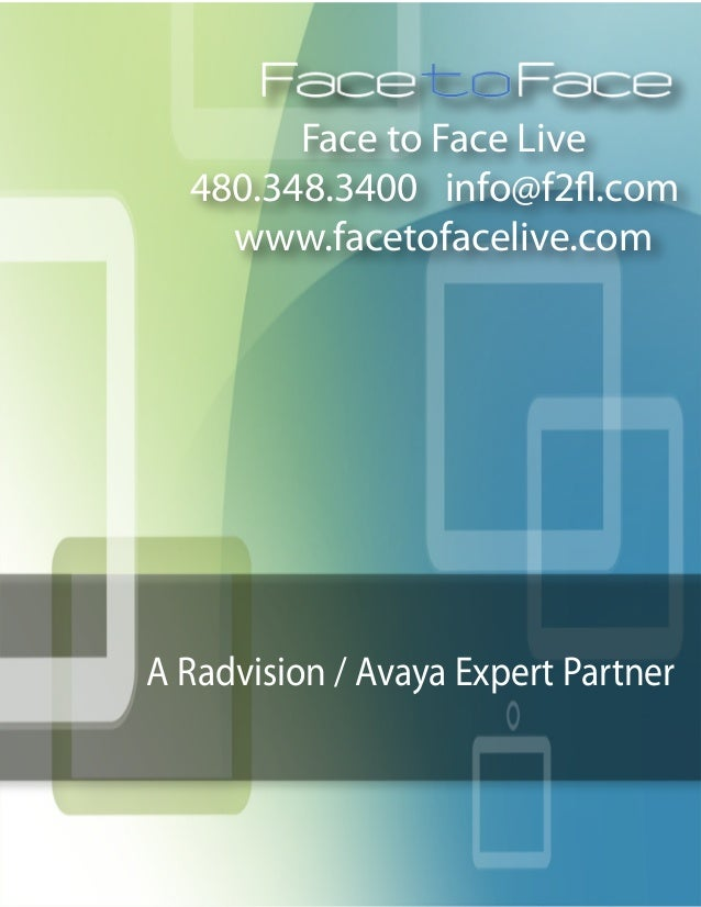 Radvision Education Case Studies by Face to Face Live