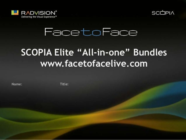 Radvision mcu scopia sales presentation by Face to Face Live