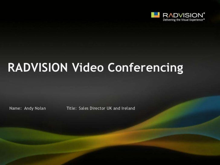 RADVISION Video Conferencing Time Tunnel at the Collaboration and Messaging Service