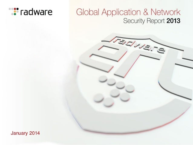 Radware Global Application & Network Security Report 2013