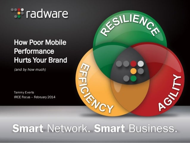 How Poor Mobile Performance Hurts Your Brand (and by how much)  Tammy Everts IRCE Focus – February 2014