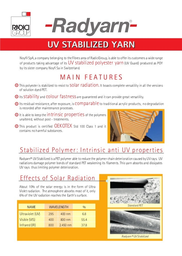 Radyarn® uv stabilized