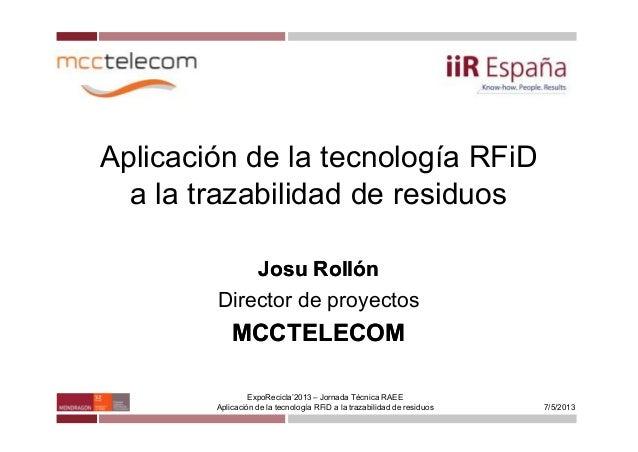 Raee   mcctelecom (expo recicla zgz 20130507 v2