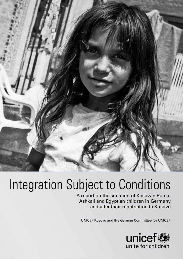 Integration Subject to Conditions             A report on the situation of Kosovan Roma,              Ashkali and Egyptian...
