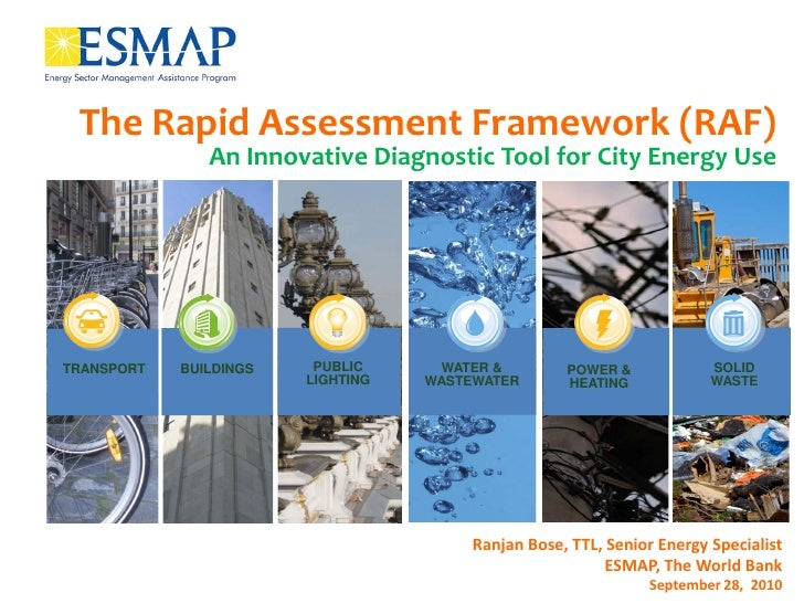 The Rapid Assessment Framework (RAF)                An Innovative Diagnostic Tool for City Energy Use     TRANSPORT   BUIL...