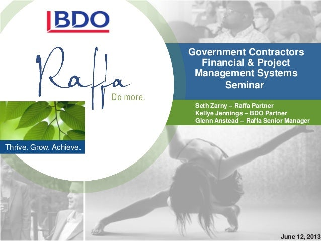 2013-06-13 Government Contractors Project Management Systems