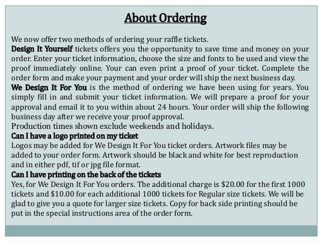 Ticket Design Online Design it Yourself Tickets