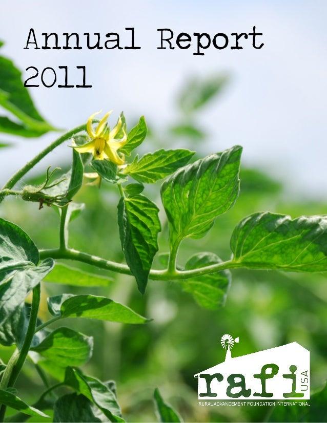 RAFI 2011 Annual Report