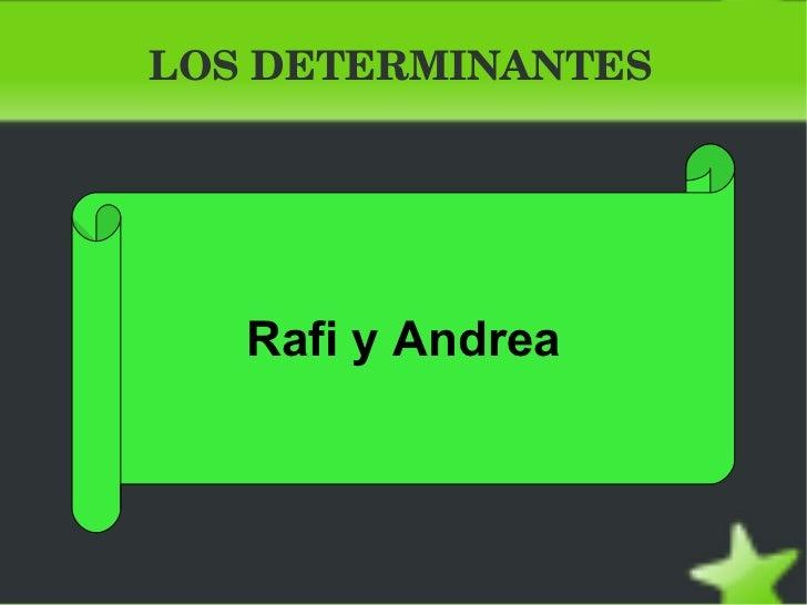 Rafi y andrea