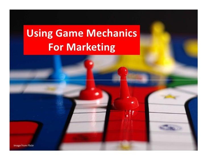 Using Gaming Mechanics for Marketing - Raf Keustermans #SMM11