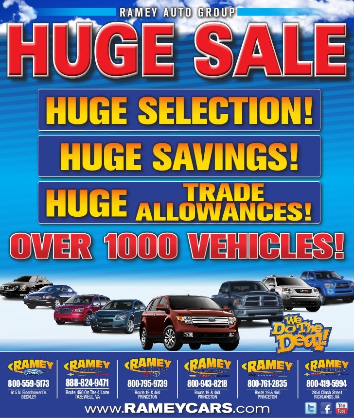 Huge Sale - Ramey Auto Group - Princeton, WV