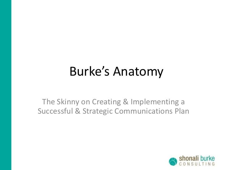 Burke's Anatomy   The Skinny on Creating & Implementing a Successful & Strategic Communications Plan
