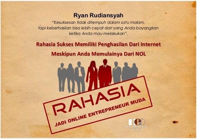 Rahasia Jadi Online Entrepreneur Muda