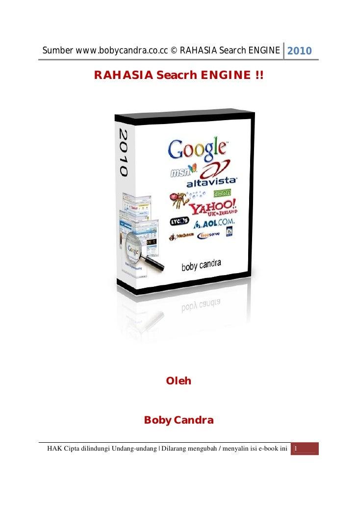 Rahasia seacrh engine - Boby Candra