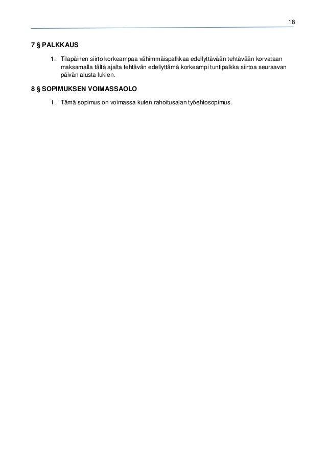 rahoitusalan tes palkka 2015 Kiuruvesi