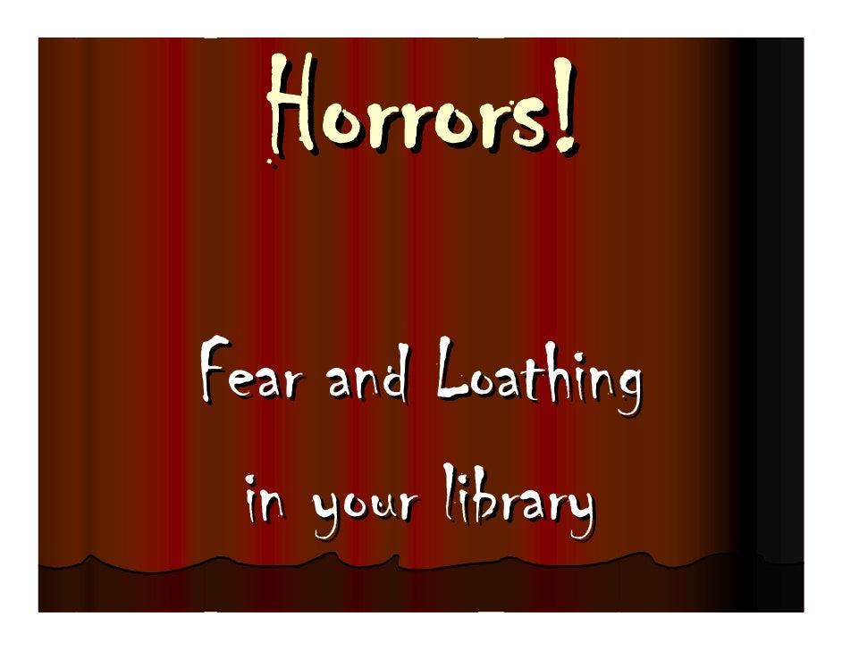 Reader's Advisory: Horror