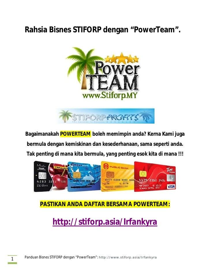 Rahsia Bisnes Stiforp Bersama Power Team Malaysia
