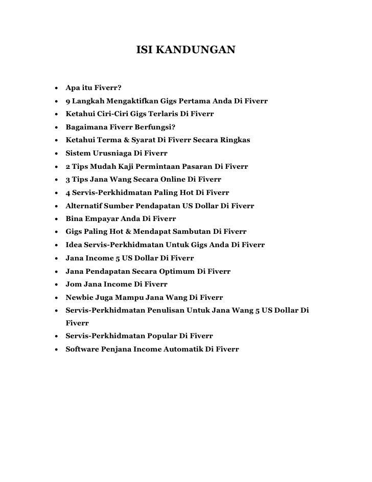 ISI KANDUNGAN   Apa itu Fiverr?   9 Langkah Mengaktifkan Gigs Pertama Anda Di Fiverr   Ketahui Ciri-Ciri Gigs Terlaris ...