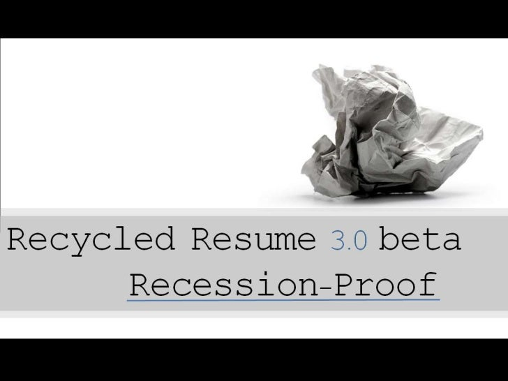 Recession Proof Resume 3.0 beta