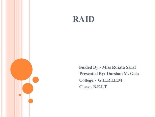 RAID seminar