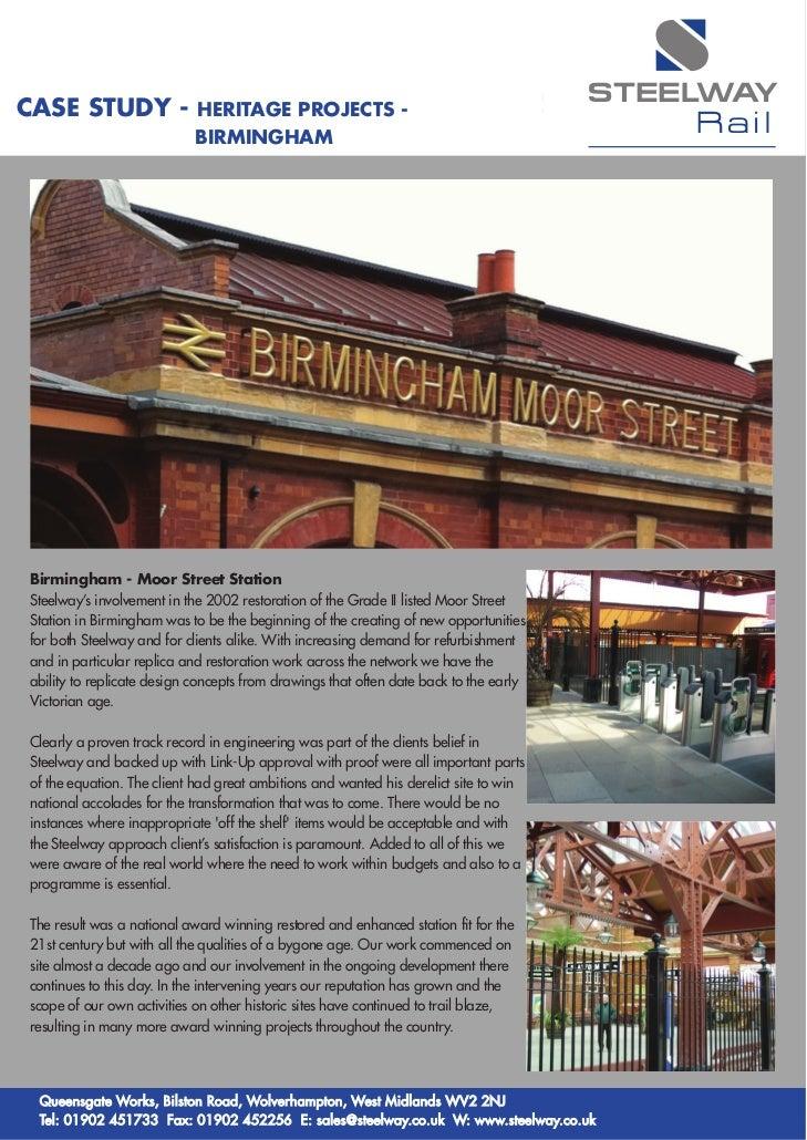Rail case study birmingham layout 1