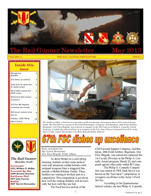 Inside thisissueMessage fromRG6/RG9267th Dishes up excellence 3'Deep Strike' Bn spares timefor student bowlers4Black Knigh...