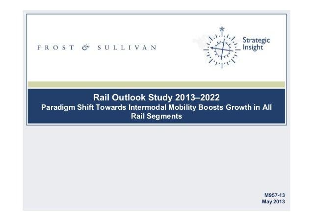 Rail outlook study 2013–2022