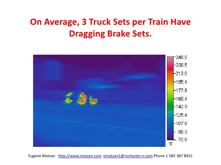 On Average, 3 Truck Sets per Train Have Dragging Brake Sets.<br />Eugene Matzan   http://www.matzan.comematzan1@rochester....