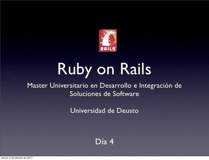 Curso de Rails para el Master de Deusto, día 4
