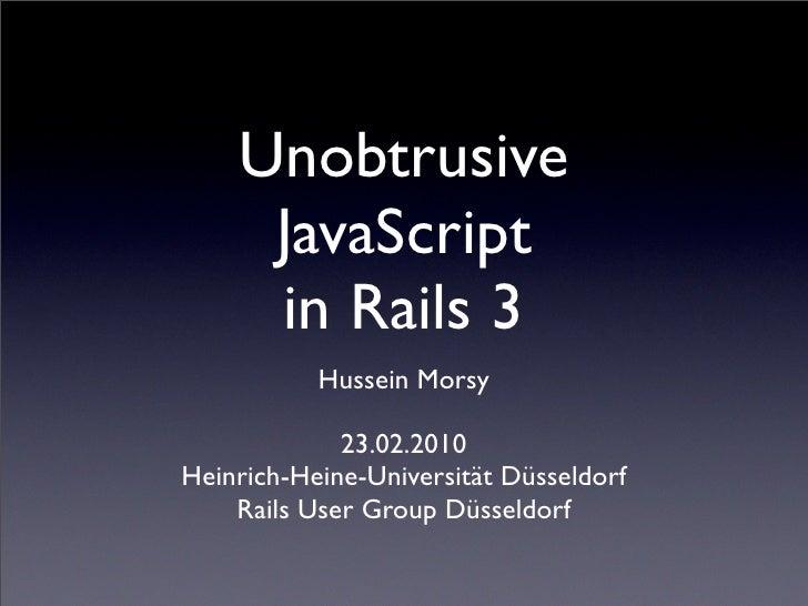 Unobtrusive JavaScript in Rails 3