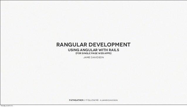 Using Angular with Rails