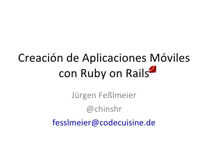 Rails iPhone App