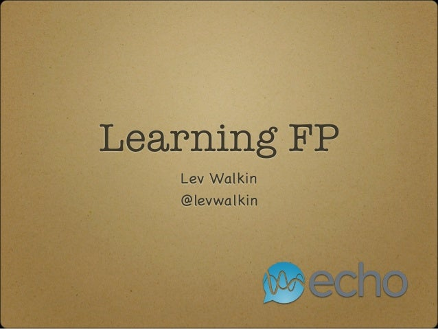 Diving into Functional Programming