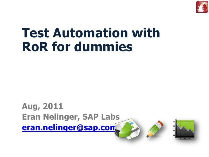 Testing in Rails 3.x