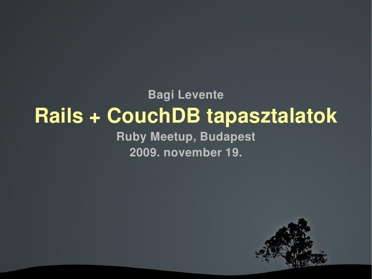 Rails Couch Db Presentation