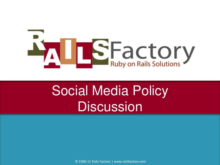 Railsfactory social media policy