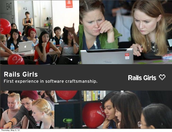 Rails girls in four slides