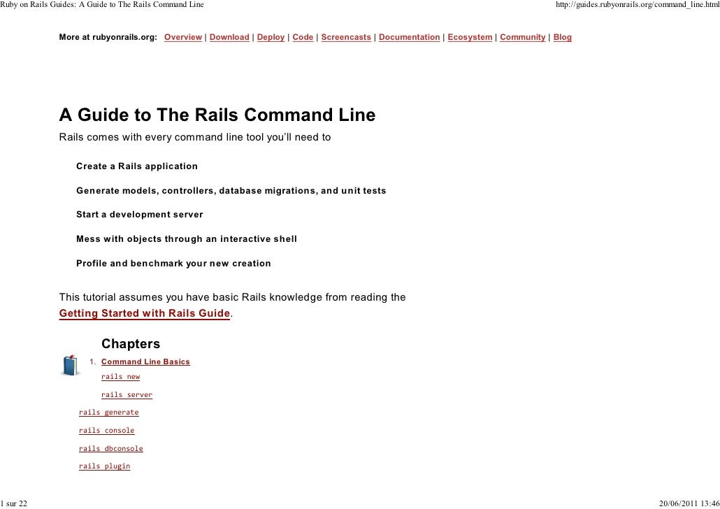 Ruby on Rails Guides: A Guide to The Rails Command Line                                                                   ...