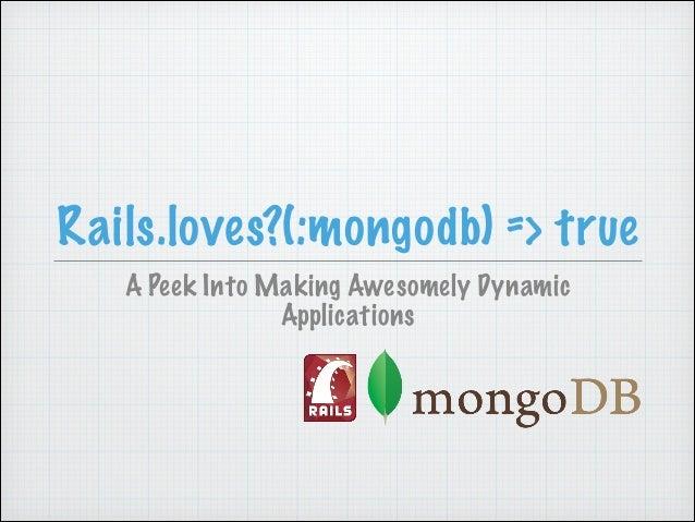 Rails Loves MongoDB