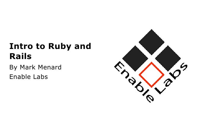Ruby on Rails Training - Module 1