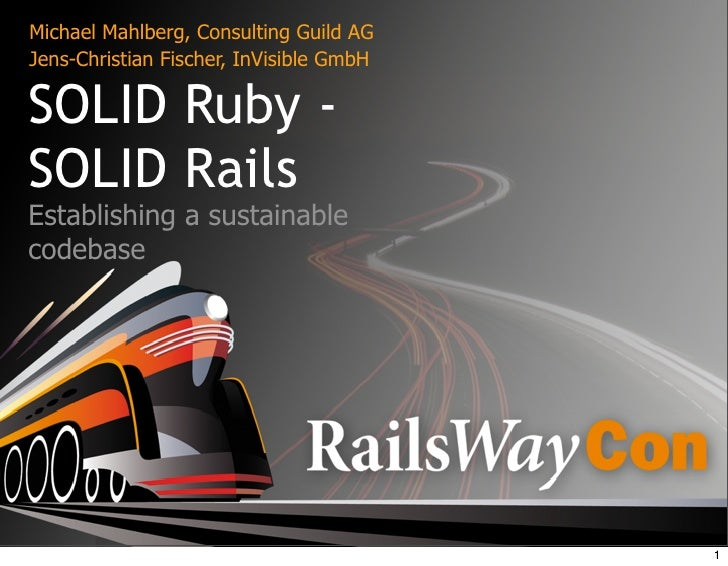 SOLID Ruby SOLID Rails