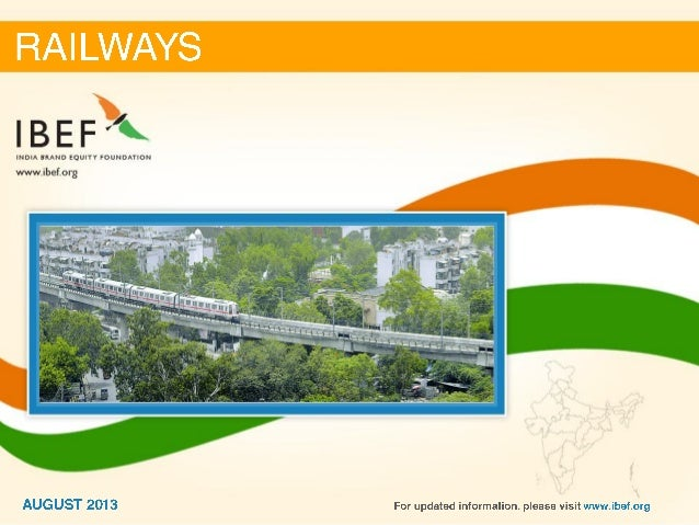 India : Railways Sector Report_August 2013