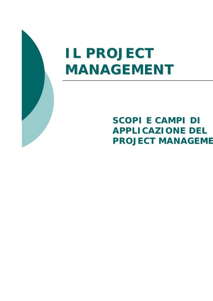Corso di Project Management