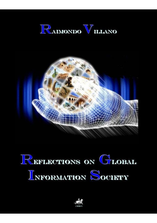 Raimondo Villano - book - Reflections on global society of information cap 3